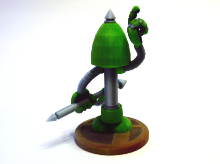 Axe Robot Green 3d printed