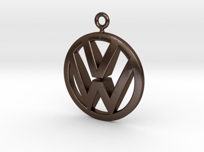 VeeDub Keyring 3d printed