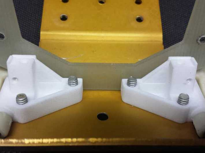 CPD 6208 25-degree RC10 Front Arm Mounts 3d printed