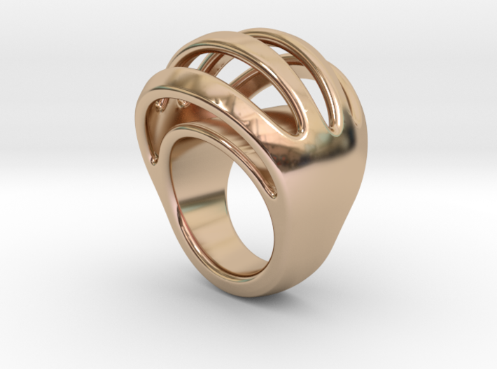 RING CRAZY 19 - ITALIAN SIZE 19 3d printed