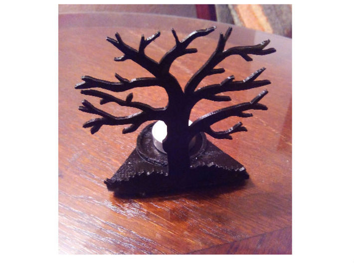 Tea light - tree 3d printed
