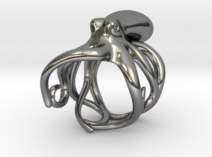 Octopus Ring 16mm 3d printed