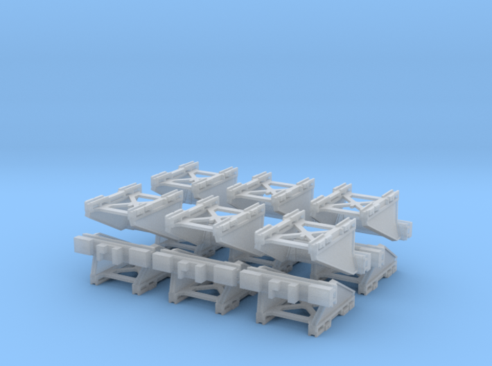 12 Modern N Gauge Buffers 148th scale 3d printed 12 Pack of modern UK railway buffers