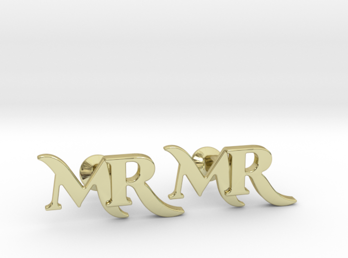 Monogram Cufflinks MR 3d printed