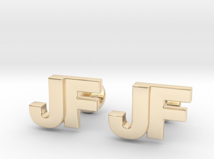 Monogram Cufflinks JF 3d printed