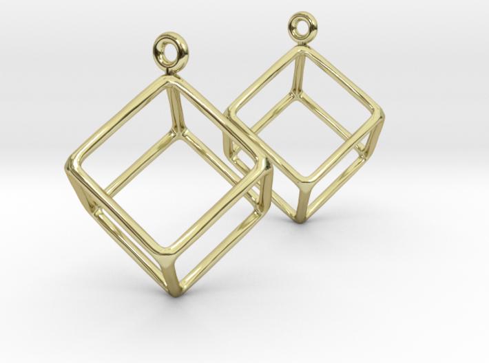 Earth earrings 3d printed