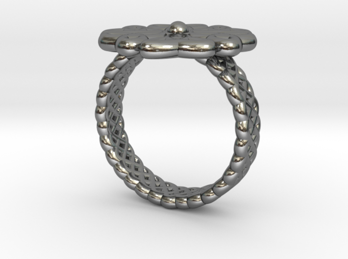 Floral Ring - Size 7 3d printed
