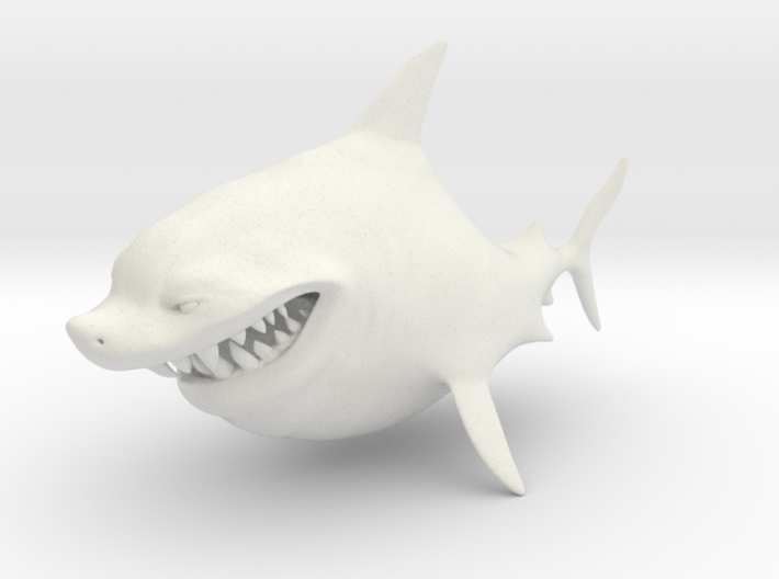 Cartoon Shark 3d printed