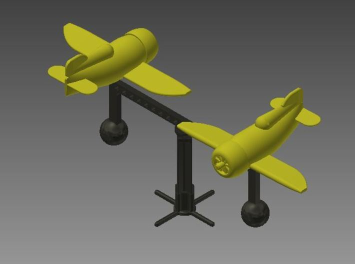 Mobile Stand (for 2 Gee Bee Racers) 3d printed Shown with 2 Gee Bee Racers (Sold Separately)