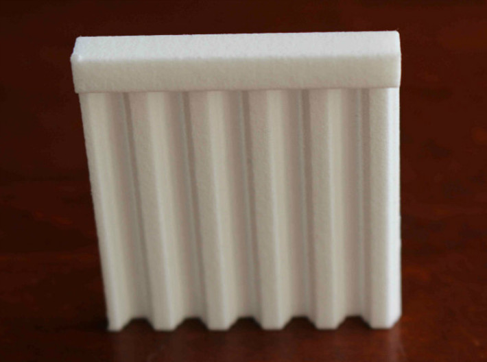 N Scale Bridge Abutment Sheet Piling (55mm) 3d printed Test patch of the Sheet Piling.