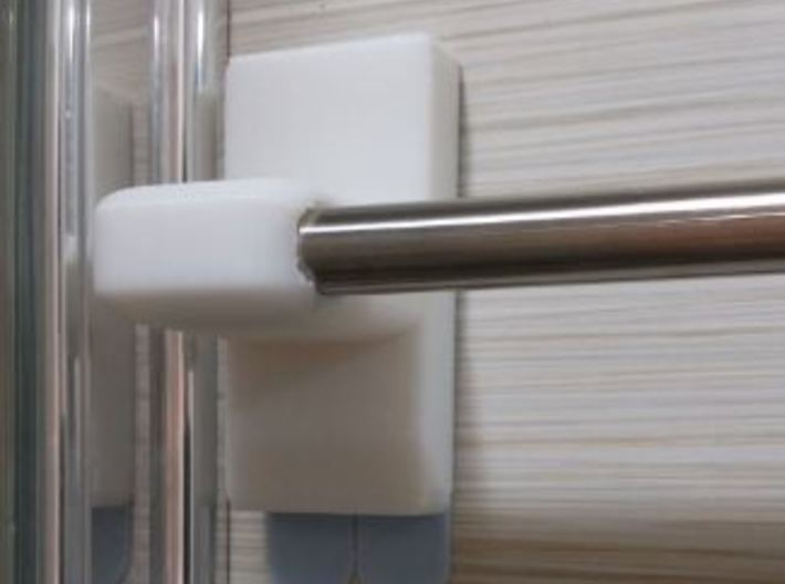 Towel Rod Rail End Support (12.7mm Diameter Rod) 3d printed Towel Support