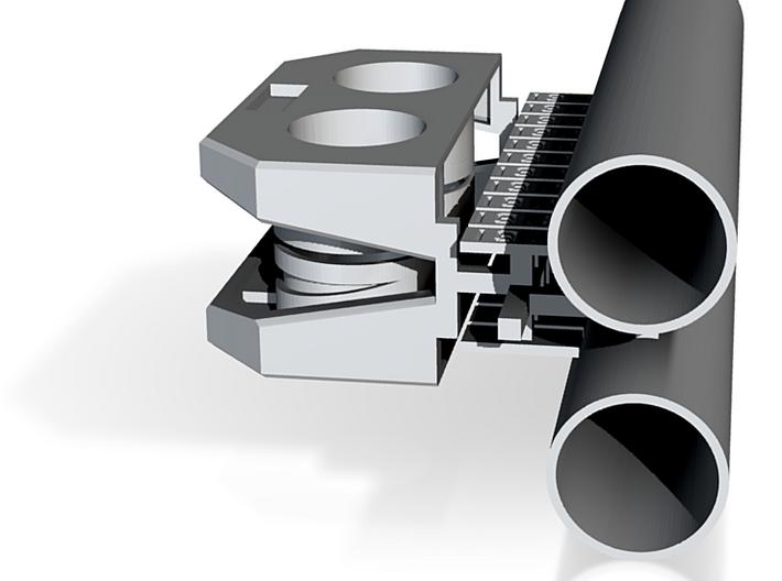 PEIR N Scale Concrete Double Culvert Assy 3d printed