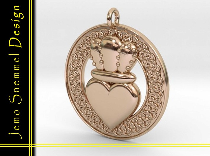 Claddagh Pendant 1 Model 3d printed