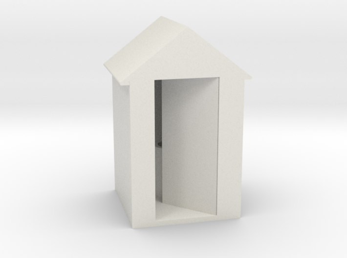 Outhouse (HO) 3d printed