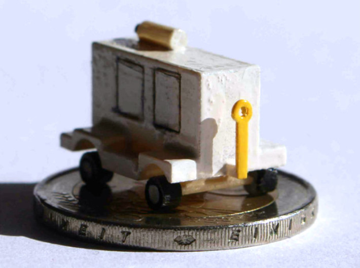 GSE 1:200 Air Start Unit 3d printed The air start unit on a 2-Euro coin. I am not yet satisfied with the paint job...