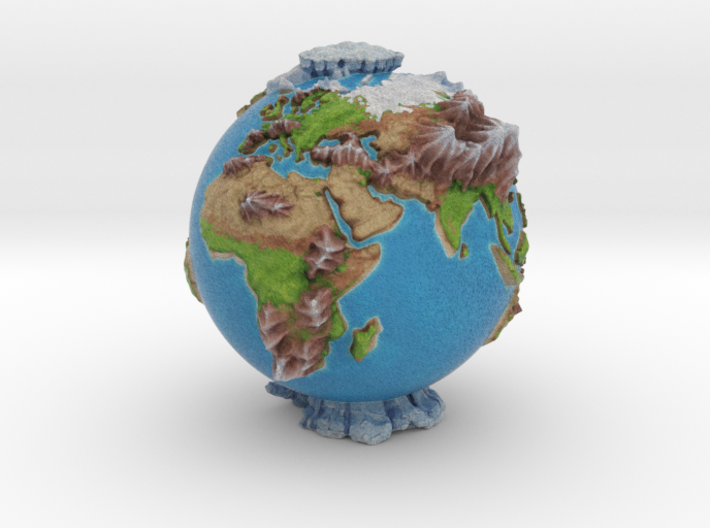 The Whole World 3d printed