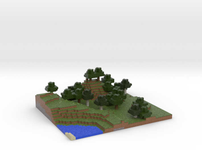 Minecraft 1.7.10 Land 3 Flower Forest season 1 3d printed
