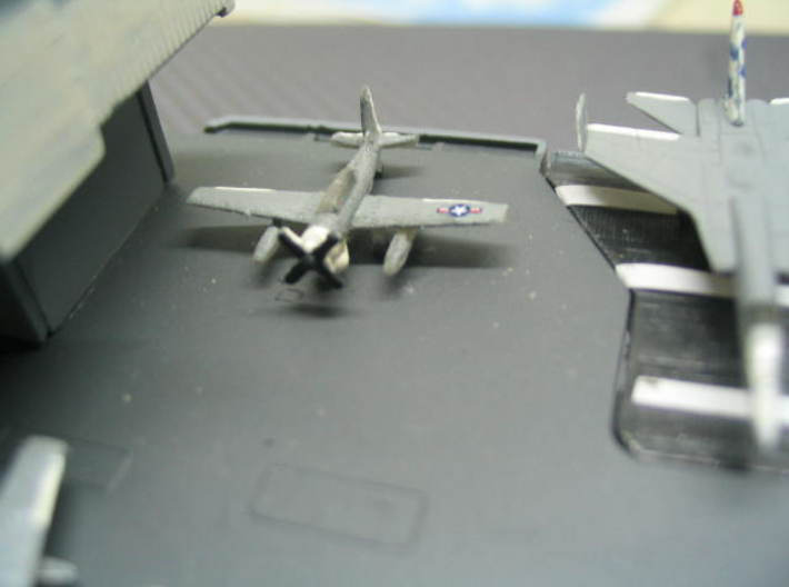 "1/700 AD-4W (AEW.1) Skyraider (x6) 3d printed Models in image have been painted and detailed by ""joseywales""."