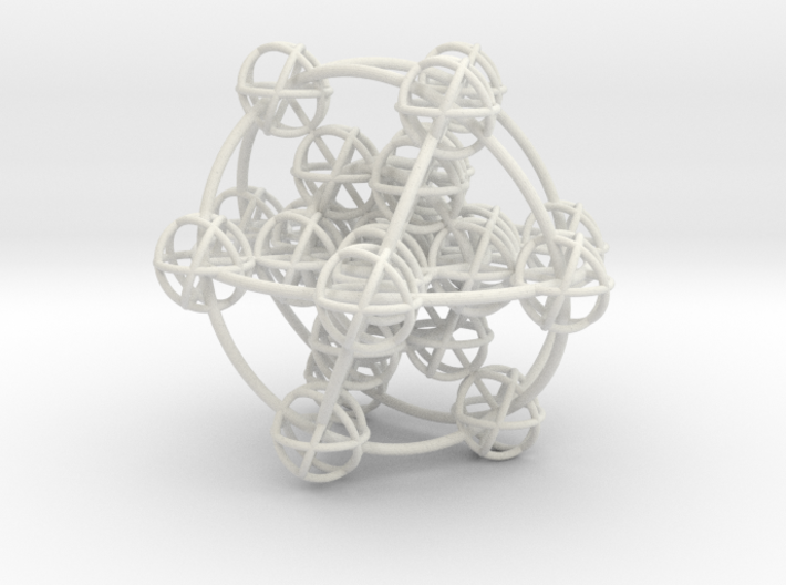 3D Metatron's Cube (add your own magnets) 3d printed