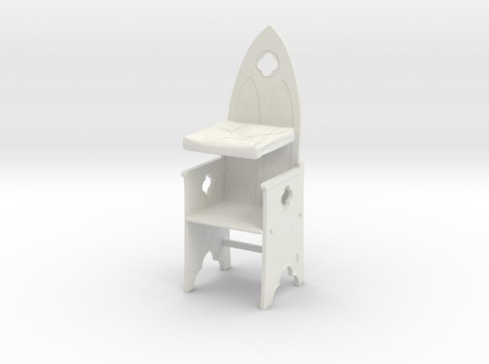 Gothic Chair 1:24 3d printed