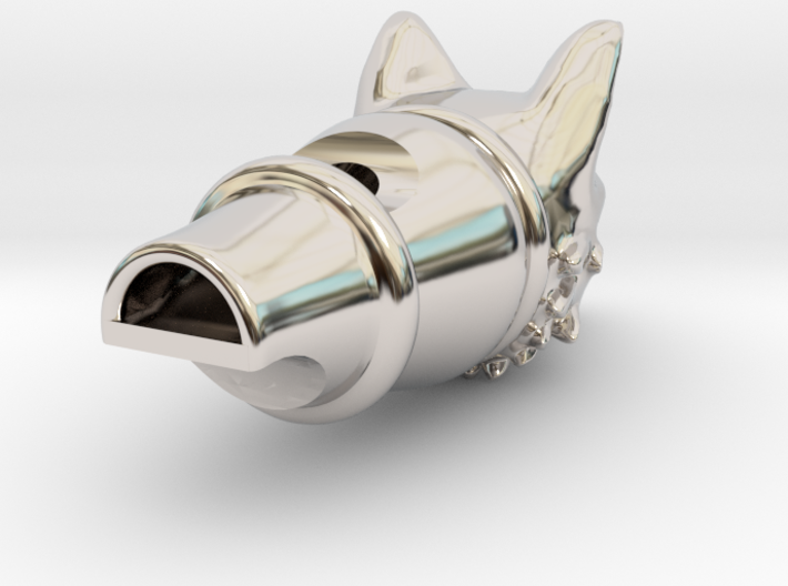 Silver Fox Whistle 3d printed