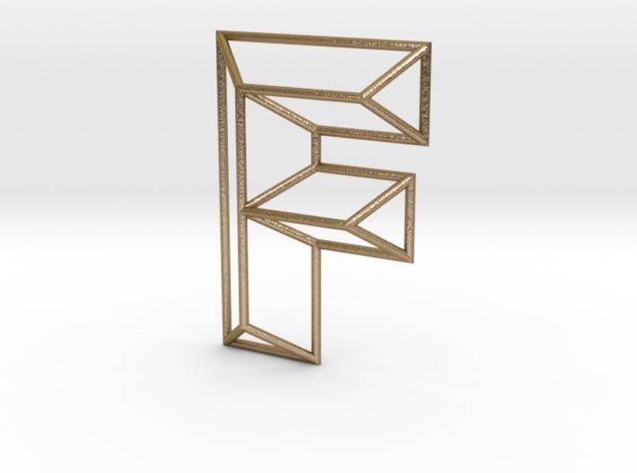F Typolygon 3d printed