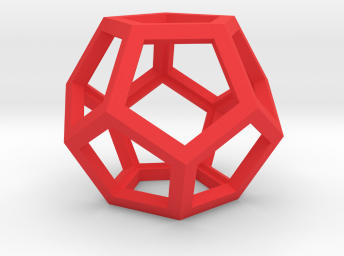 """Dodecahedron Wire Frame - 0.3"""" side 3d printed"""