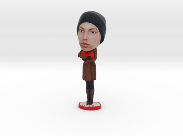 CUSTOM Woman Figurine Hugging a Heart - Love 3d printed