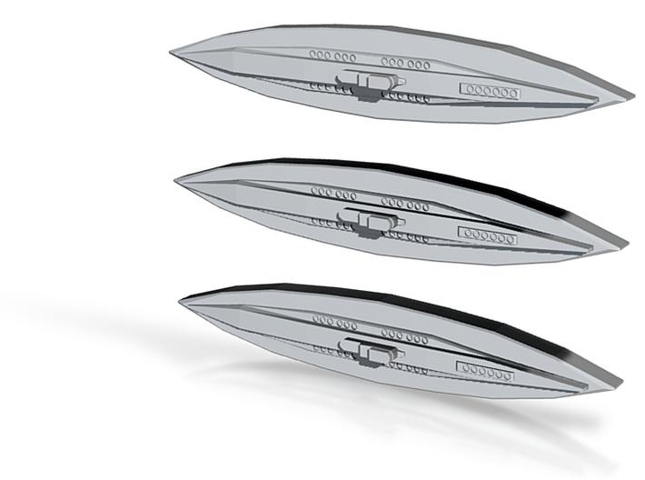U-117 (Type XB U-boat) (1:1800) x3 3d printed