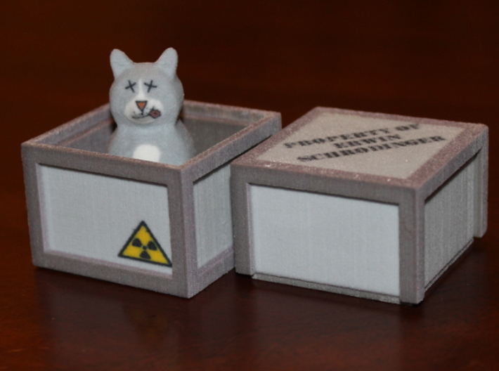 Schrödinger's Cat and Box 3d printed Dead in Box