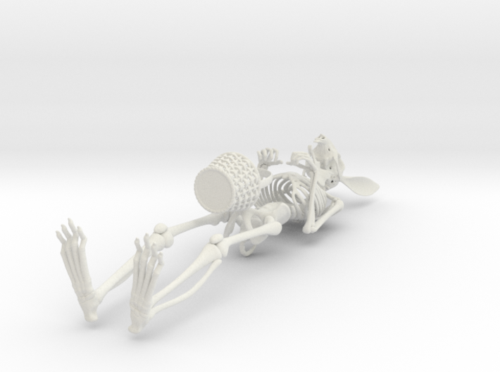 Easter Bunny Skeleton 3d printed