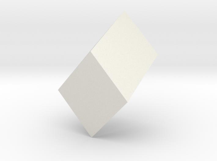 Monoclinic prism 3d printed