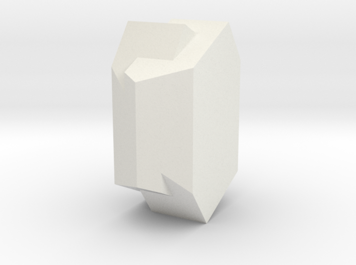 Orthoclase Carlsbad penetration twin 3d printed