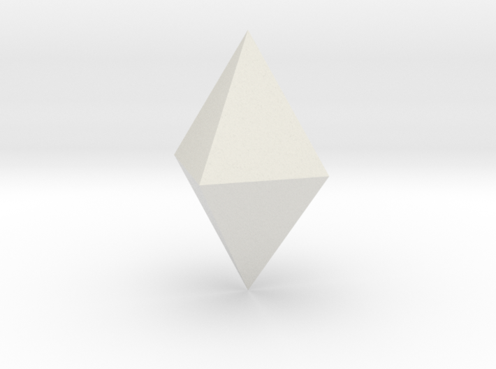 Tetragonal dipyramid 3d printed