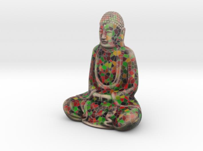 Textured Buddha: fiesta inlay. 3d printed