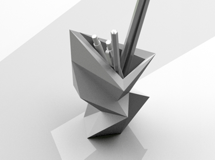 Edge I - Vase & Pen Stand 3d printed Fit with pens, pencils, rulers, etc...