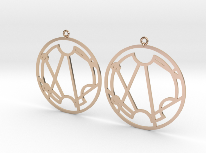 Stacie - Earrings - Series 1 3d printed
