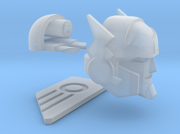 "Broadcaster Head ""MTMTE"" 3d printed"