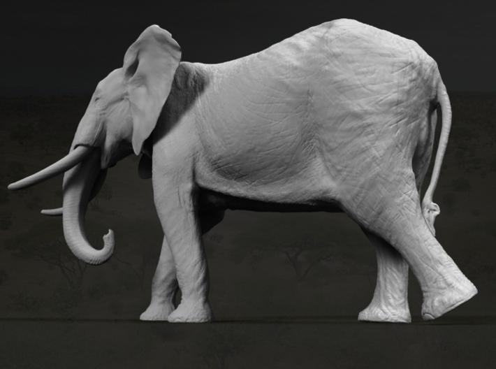 African Bush Elephant 1:45 Walking Male 3d printed