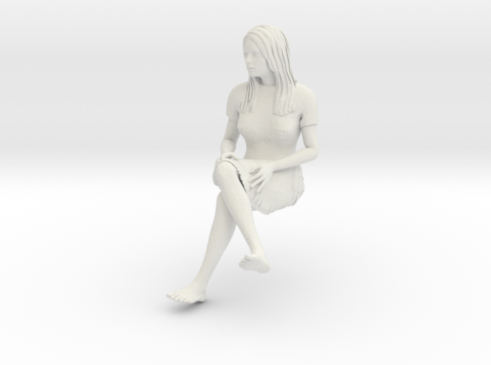Janet skirt sitting 1/20 scale 3d printed