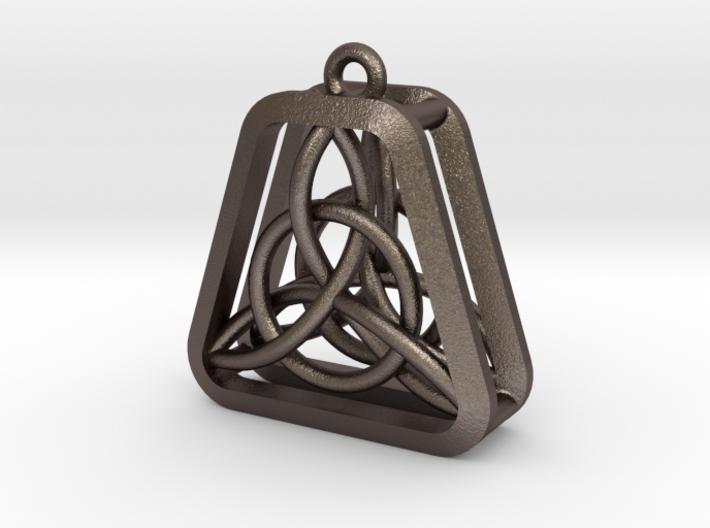 Triad Knot Key Chain 3d printed