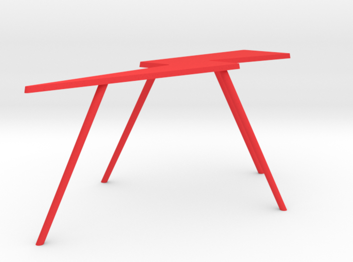 Personalize-able Lightning Bolt Flip Table Small 3d printed