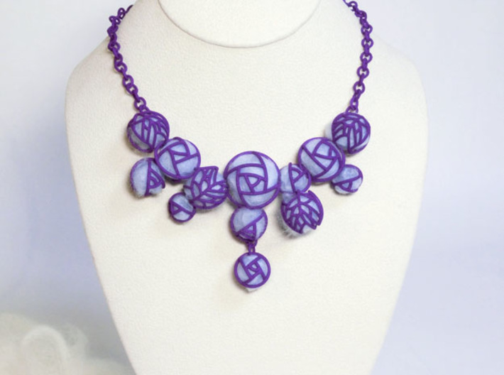 Cotton Rose NecklaceⅡ 3d printed Add a caption...