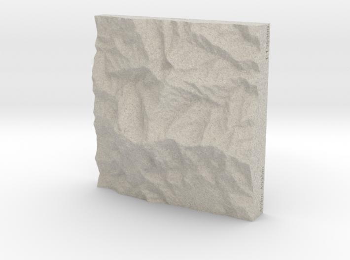 4''/10cm Mt. Kinabalu, Malaysia, Sandstone 3d printed
