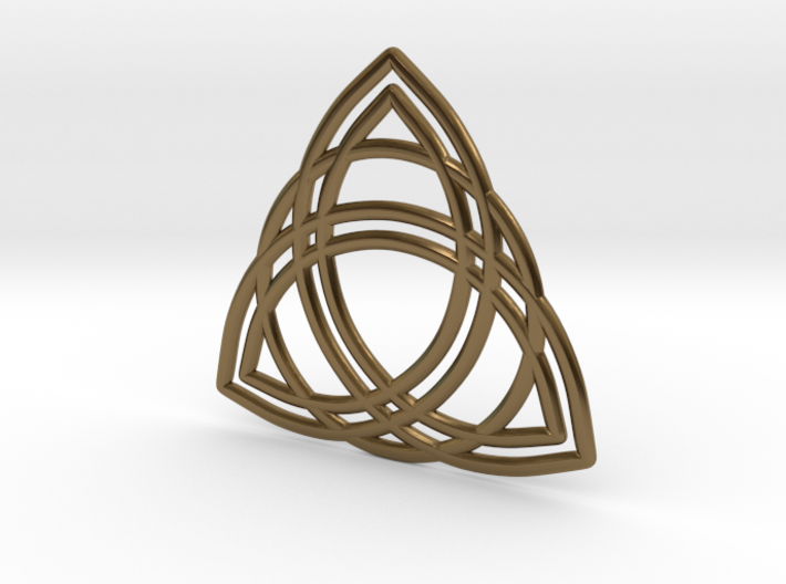 Double Triquetra with Ring 3d printed