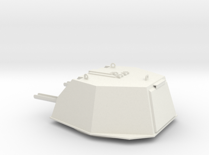 1:16 scale model of DShKM-2BU turret for Soviet WW 3d printed