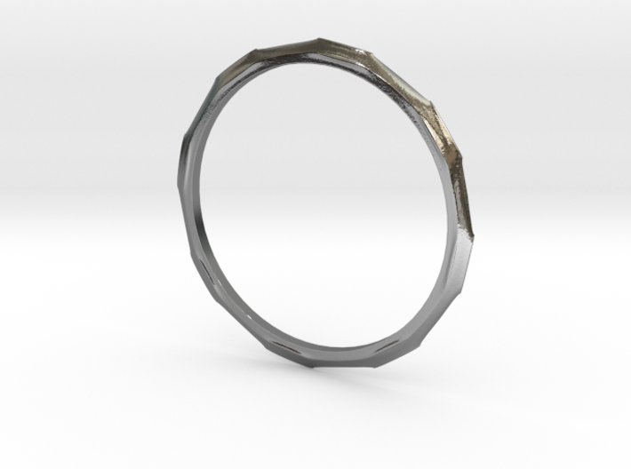 """Ring 'Industrial' - 16.5cm / 0.65"""" - Size 6 3d printed"""