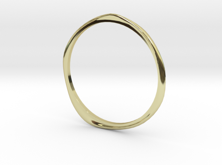 "Ring 'Curves' - 16.5cm / 0.65"" - Size 6 3d printed"