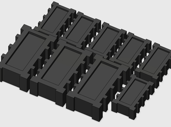 YT1300 DEAGO SET HALL TRANSPORT BOXES 3d printed