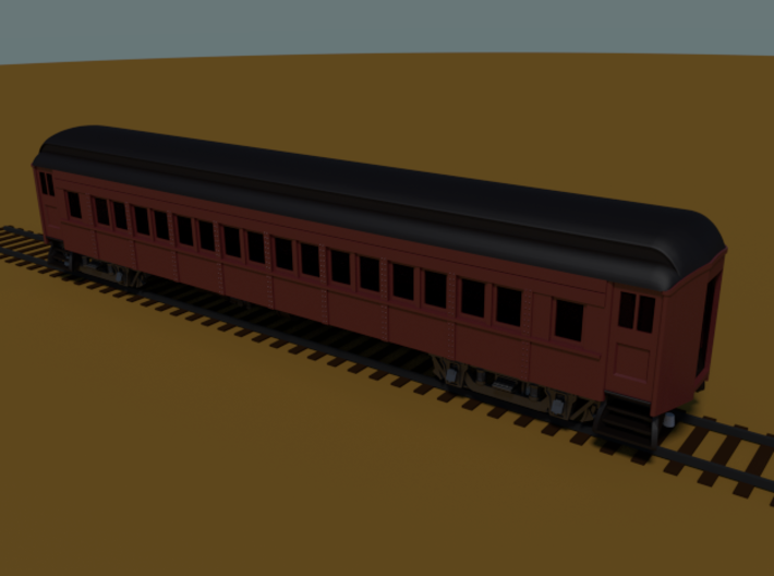 PRR P70 (shortened)(1/160) 3d printed Rendered in Blender